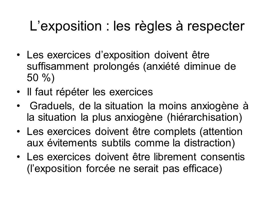 L'exposition : les règles à respecter