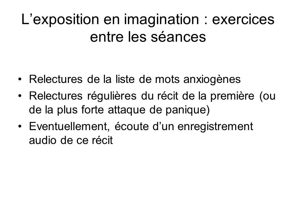 L'exposition en imagination : exercices entre les séances