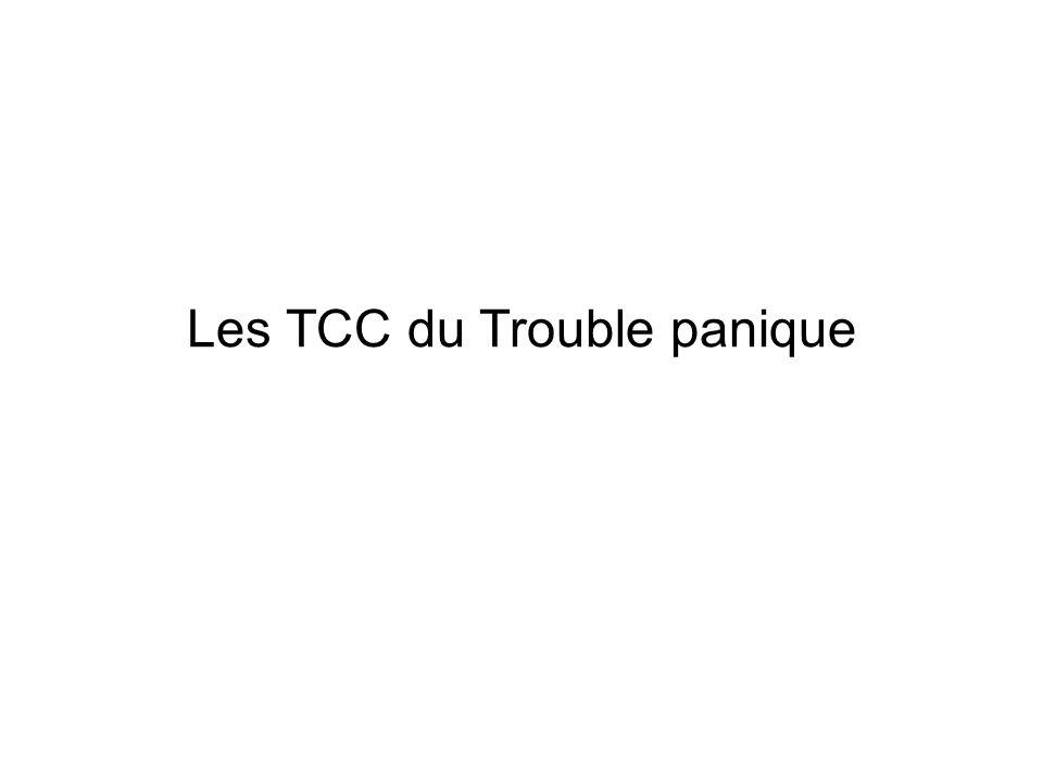 Les TCC du Trouble panique