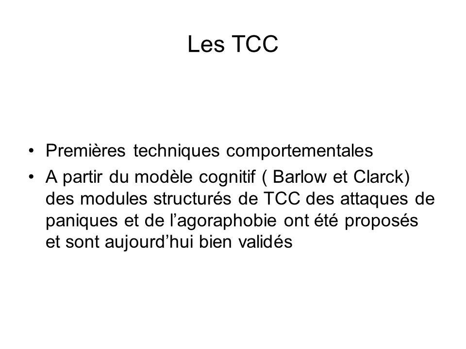 Les TCC Premières techniques comportementales