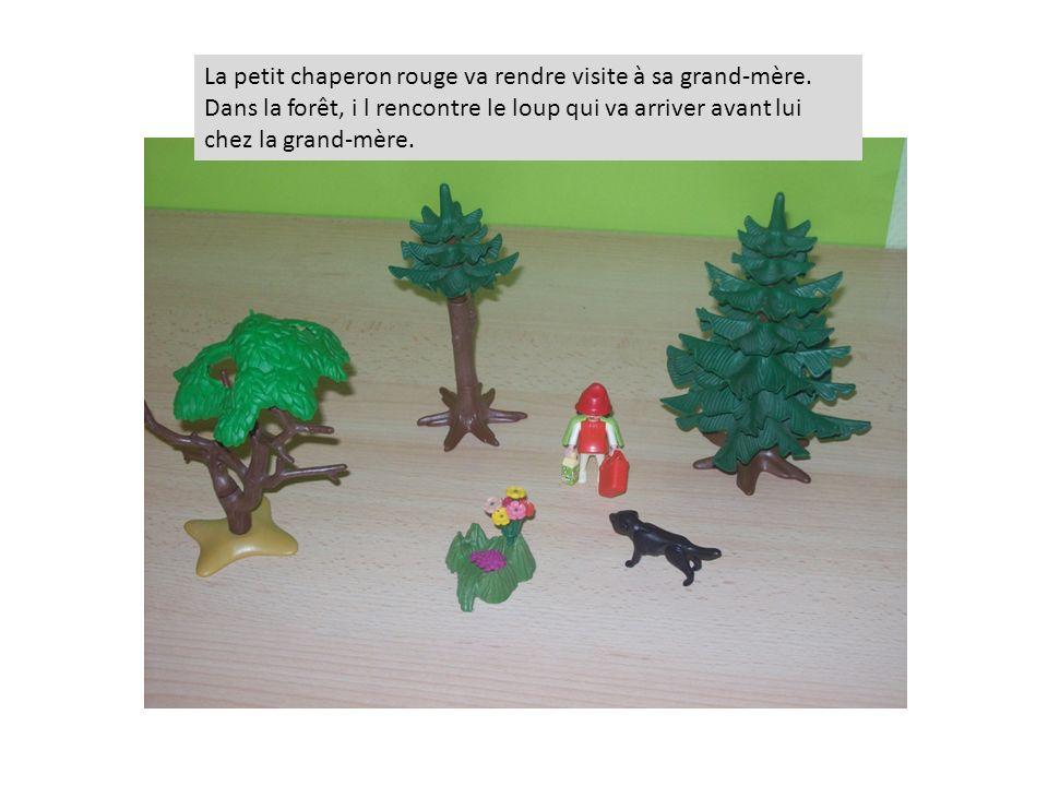 La petit chaperon rouge va rendre visite à sa grand-mère