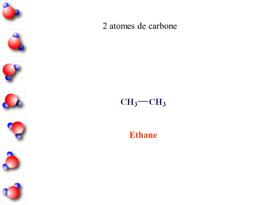 2 atomes de carbone Ethane
