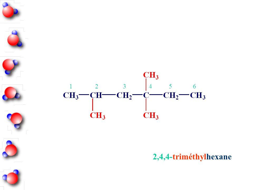 1 2 3 4 5 6 2,4,4-triméthylhexane