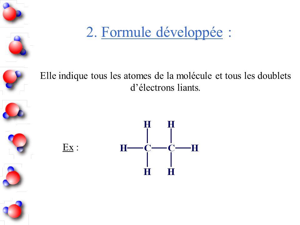 Elle indique tous les atomes de la molécule et tous les doublets
