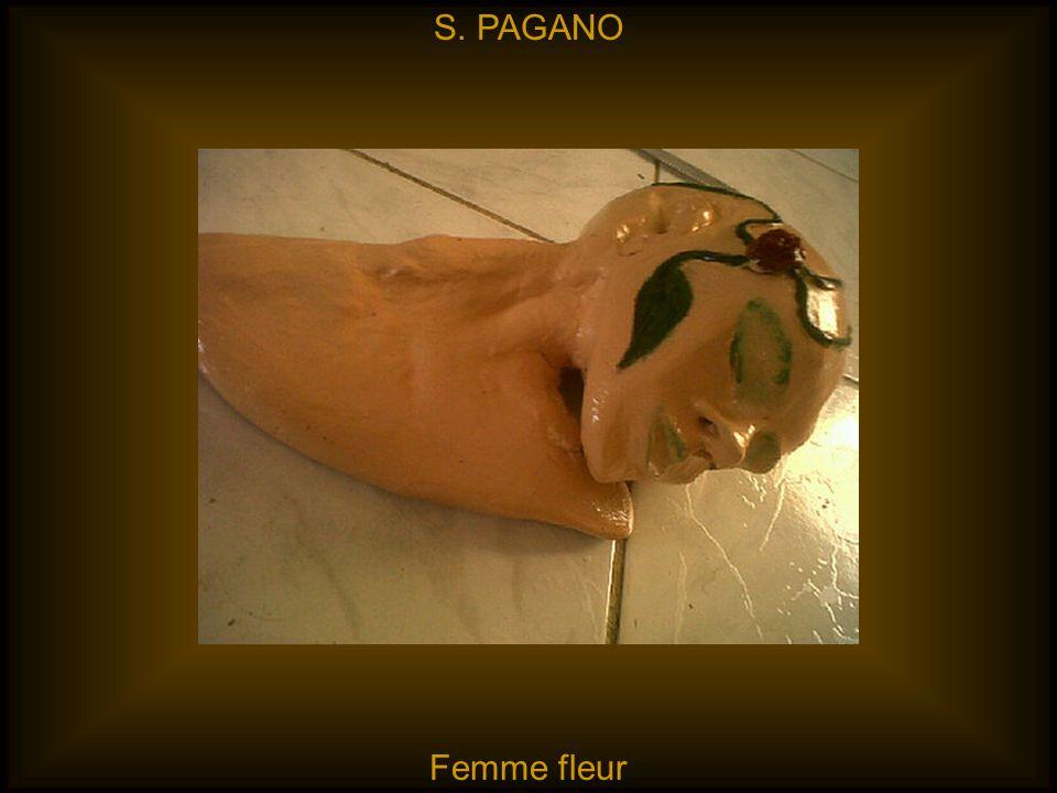 S. PAGANO Femme fleur
