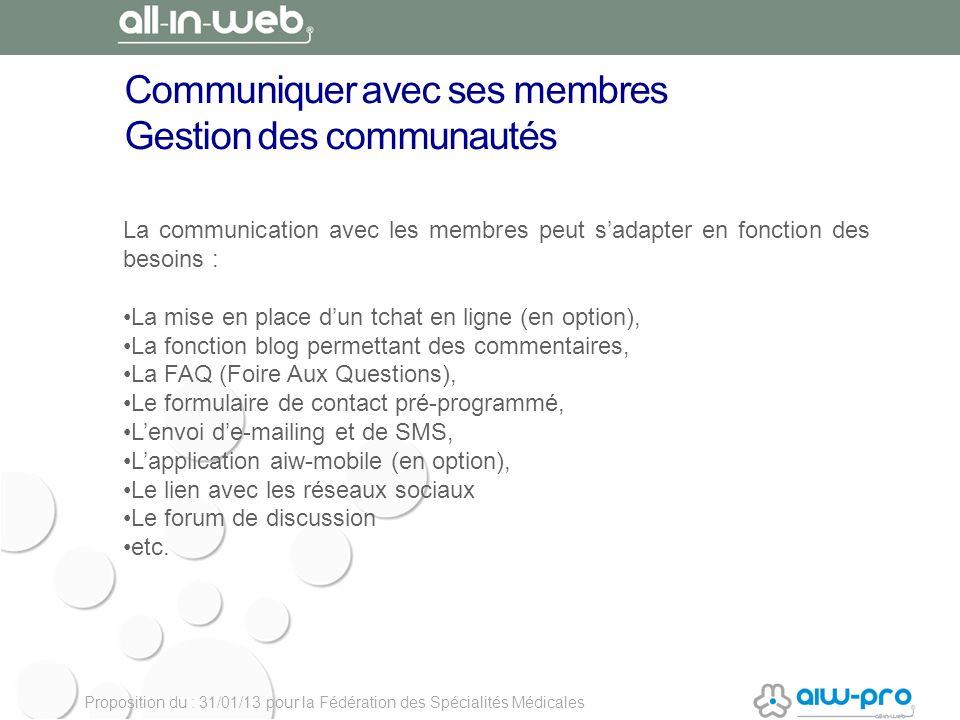 Communiquer avec ses membres Gestion des communautés