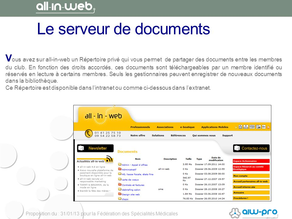 Le serveur de documents