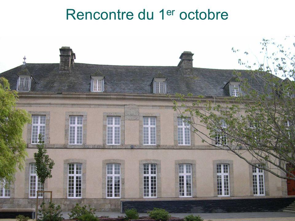 Rencontre du 1er octobre