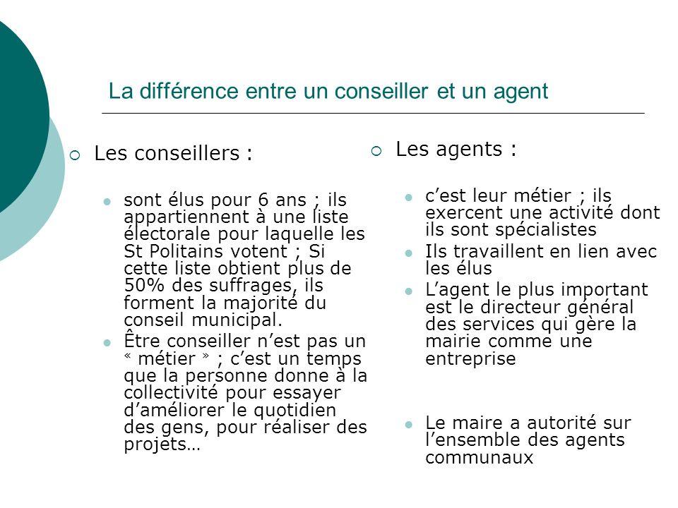 La différence entre un conseiller et un agent
