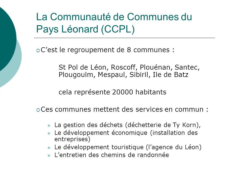 La Communauté de Communes du Pays Léonard (CCPL)