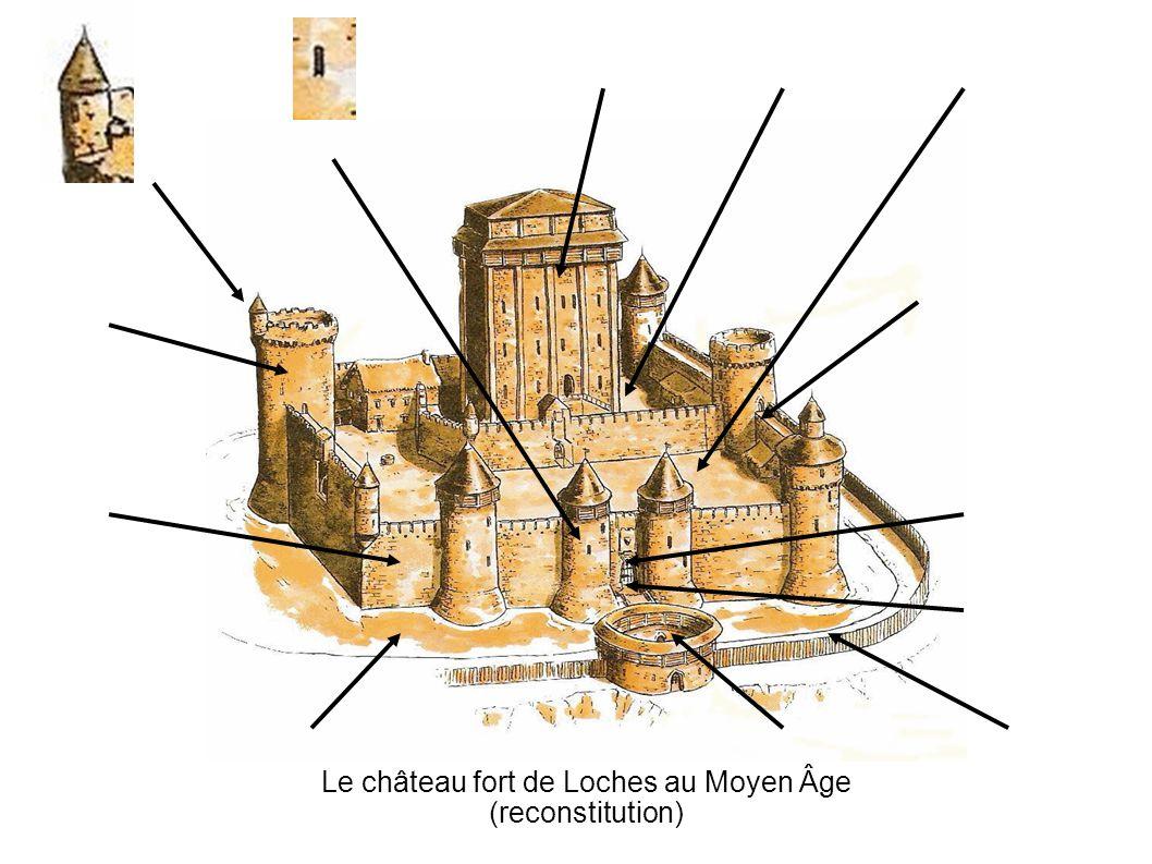 Le château fort de Loches au Moyen Âge (reconstitution)