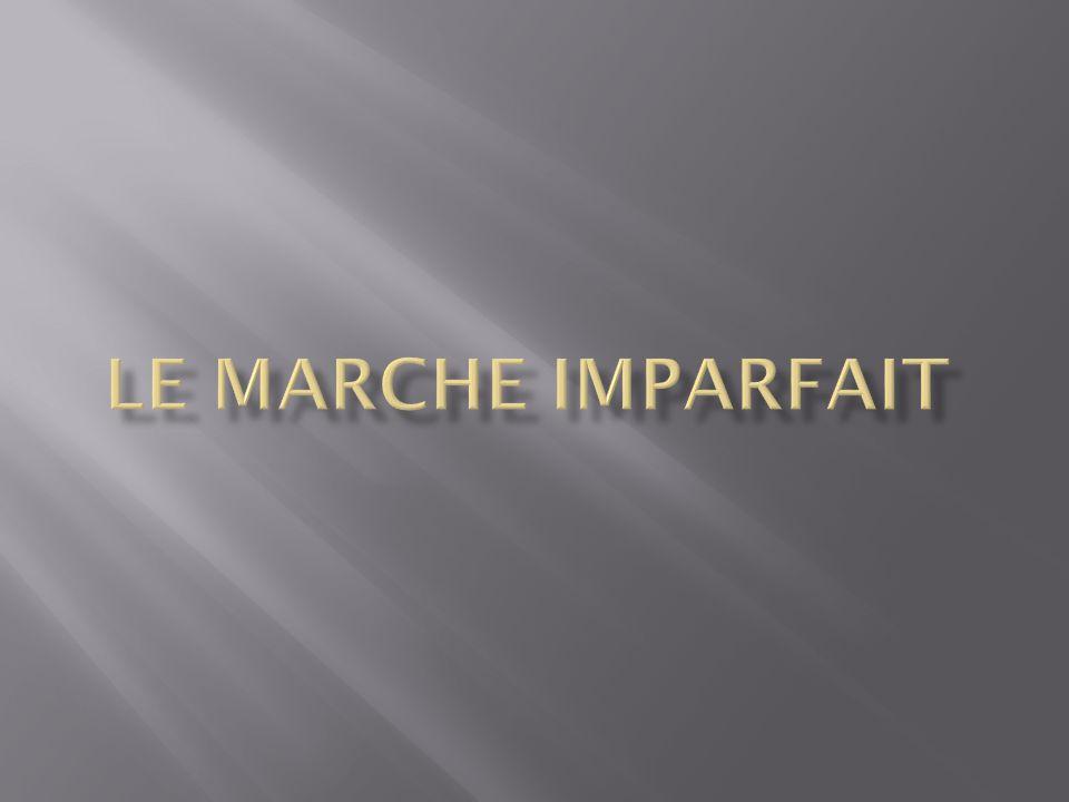 LE MARCHE IMPARFAIT