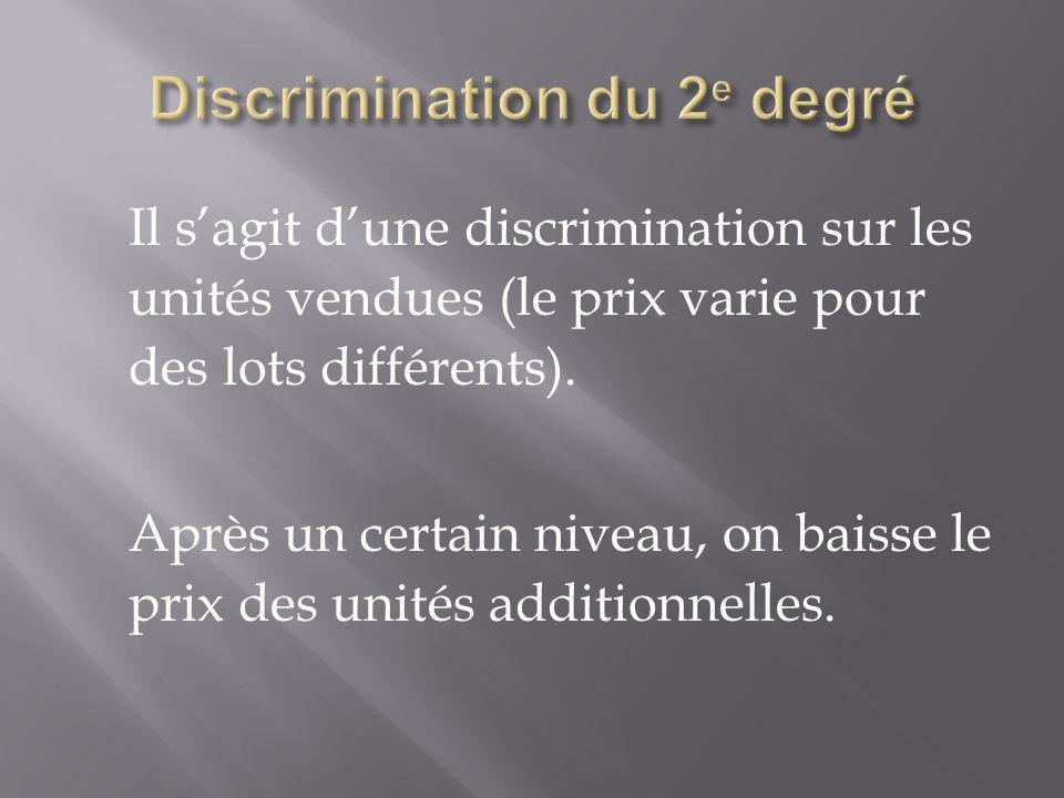 Discrimination du 2e degré