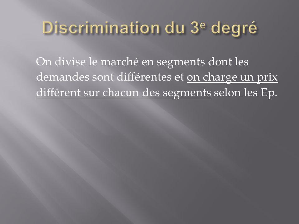 Discrimination du 3e degré