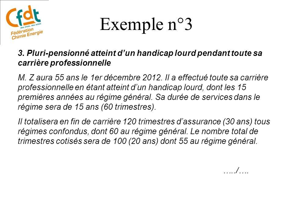 Exemple n°3 3. Pluri-pensionné atteint d'un handicap lourd pendant toute sa carrière professionnelle.