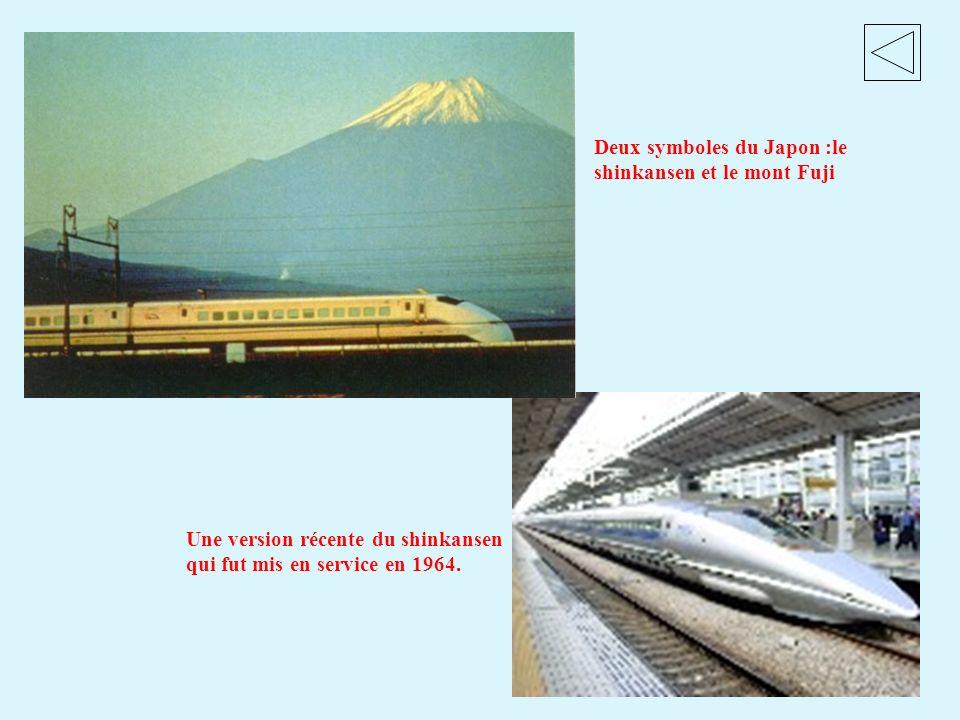 Deux symboles du Japon :le shinkansen et le mont Fuji