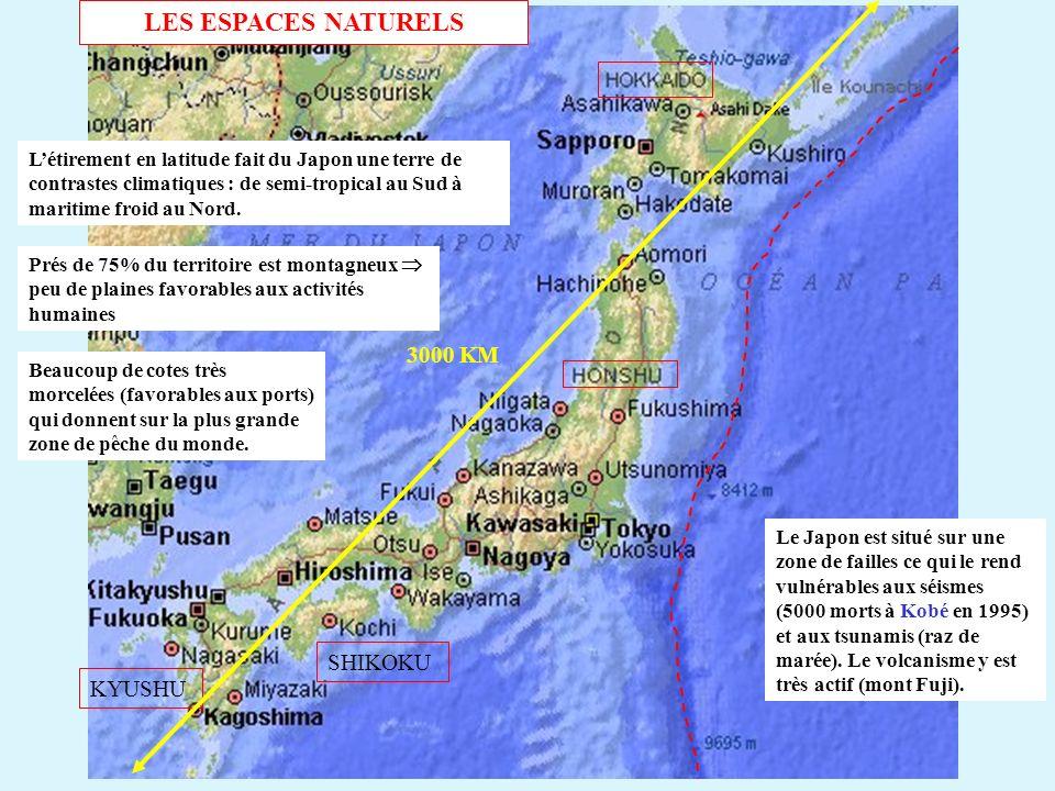 LES ESPACES NATURELS 3000 KM SHIKOKU KYUSHU