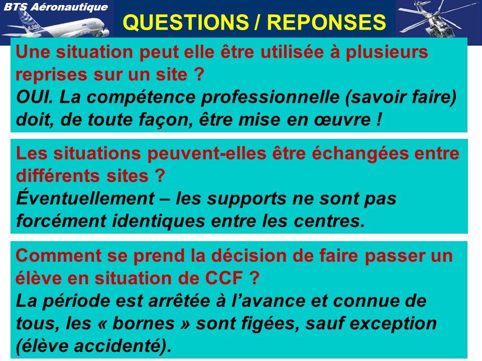 QUESTIONS / REPONSES Une situation peut elle être utilisée à plusieurs reprises sur un site