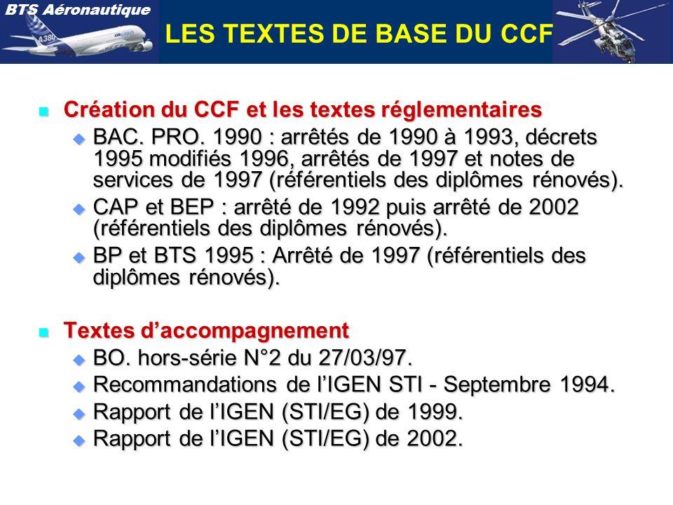 LES TEXTES DE BASE DU CCF