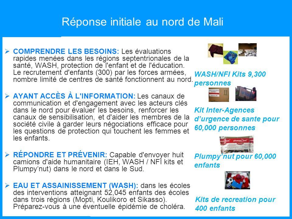 Réponse initiale au nord de Mali