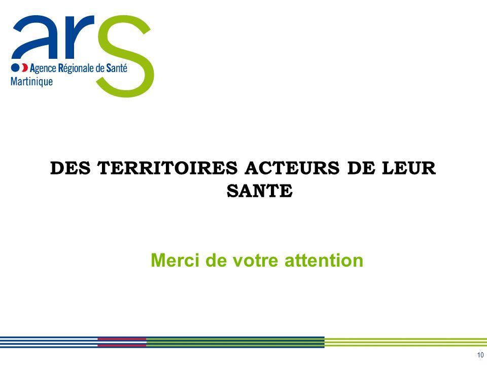 DES TERRITOIRES ACTEURS DE LEUR SANTE