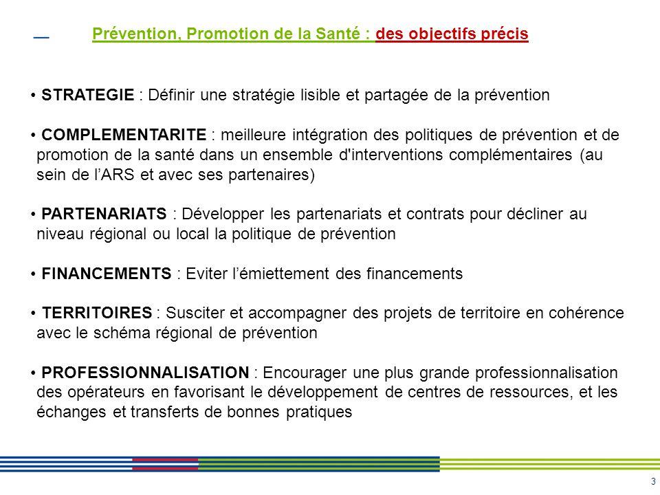 Prévention, Promotion de la Santé : des objectifs précis