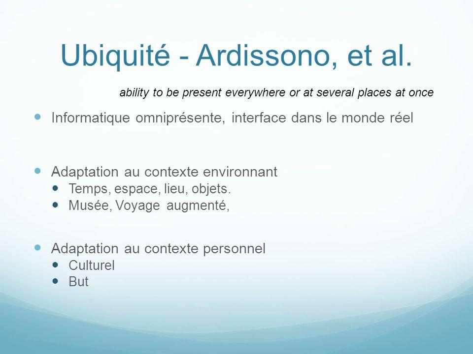 Ubiquité - Ardissono, et al.
