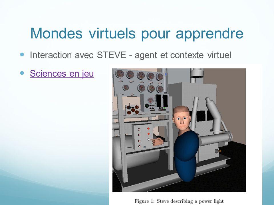 Mondes virtuels pour apprendre