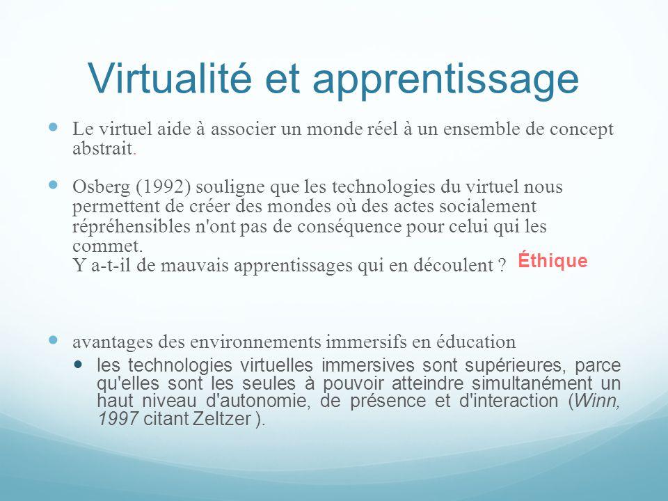 Virtualité et apprentissage