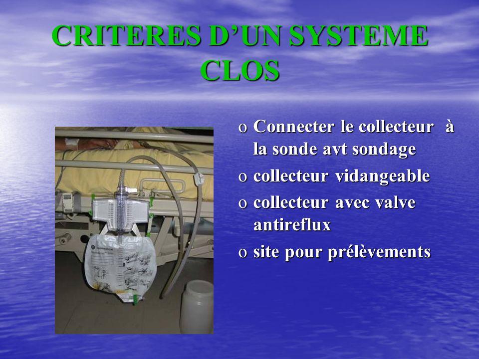 CRITERES D'UN SYSTEME CLOS