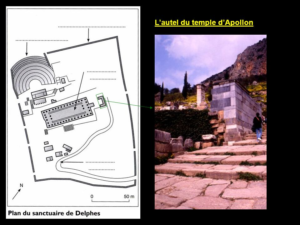 L'autel du temple d'Apollon