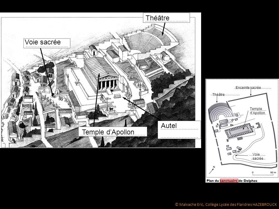 Théâtre Voie sacrée Autel Temple d'Apollon