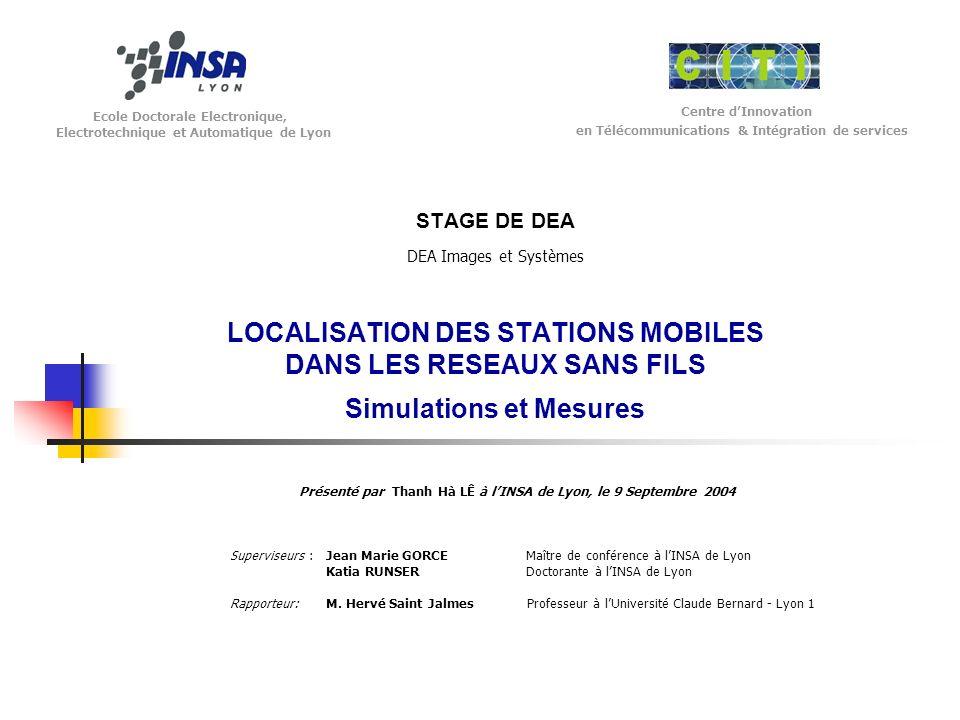 Présenté par Thanh Hà LÊ à l'INSA de Lyon, le 9 Septembre 2004