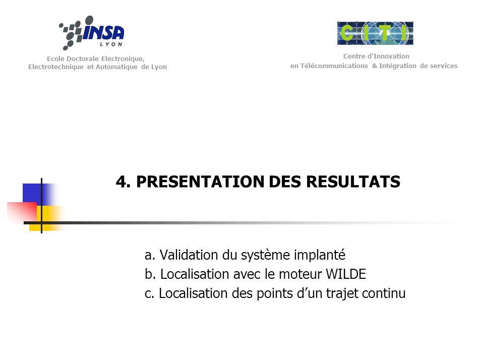 4. PRESENTATION DES RESULTATS