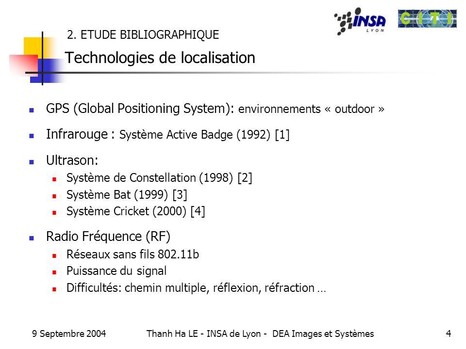 2. ETUDE BIBLIOGRAPHIQUE Technologies de localisation