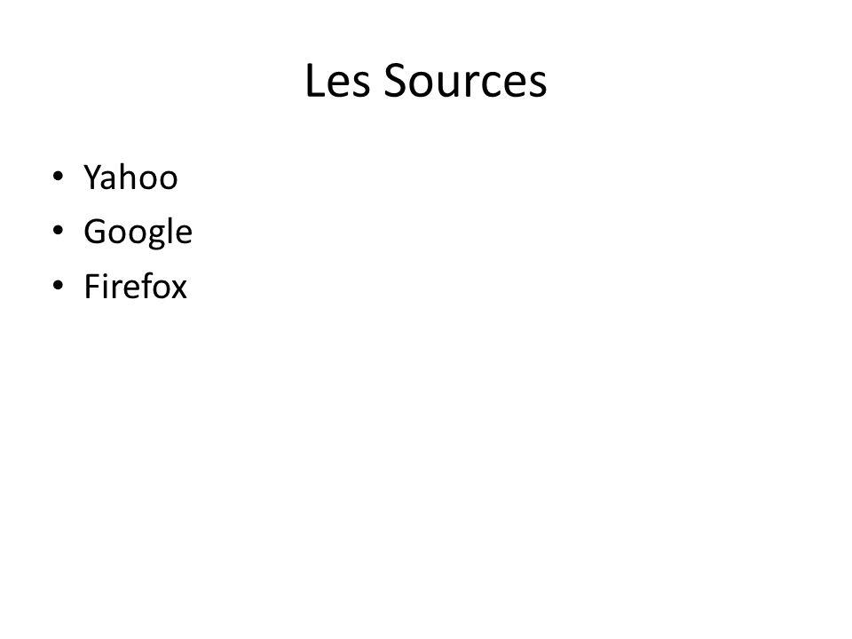 Les Sources Yahoo Google Firefox