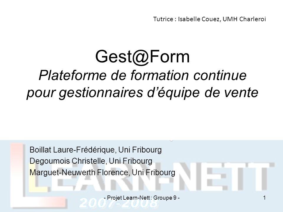 - Projet Learn-Nett : Groupe 9 -