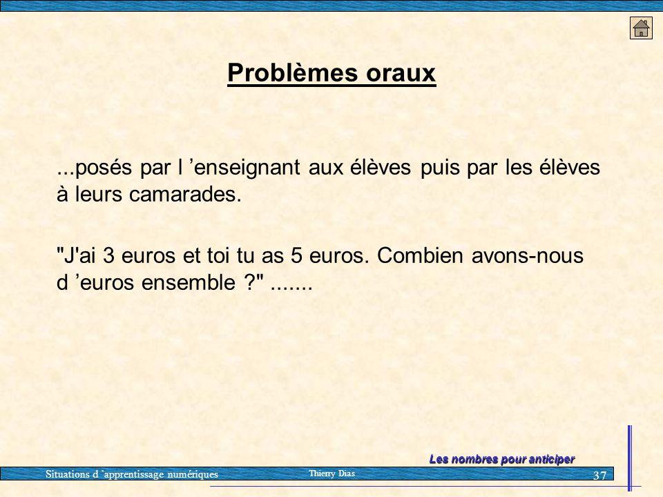 Problèmes oraux ...posés par l 'enseignant aux élèves puis par les élèves à leurs camarades.