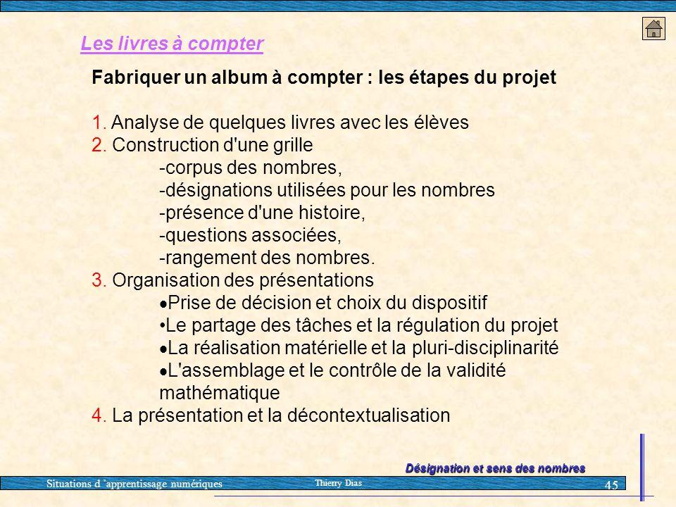 Fabriquer un album à compter : les étapes du projet