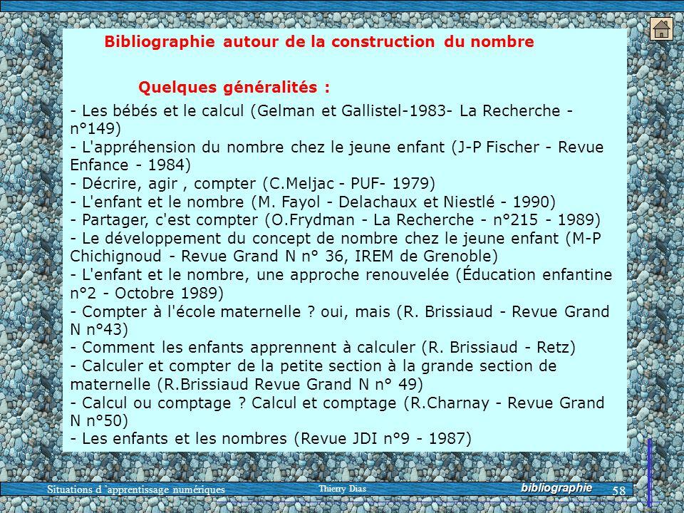 Bibliographie autour de la construction du nombre