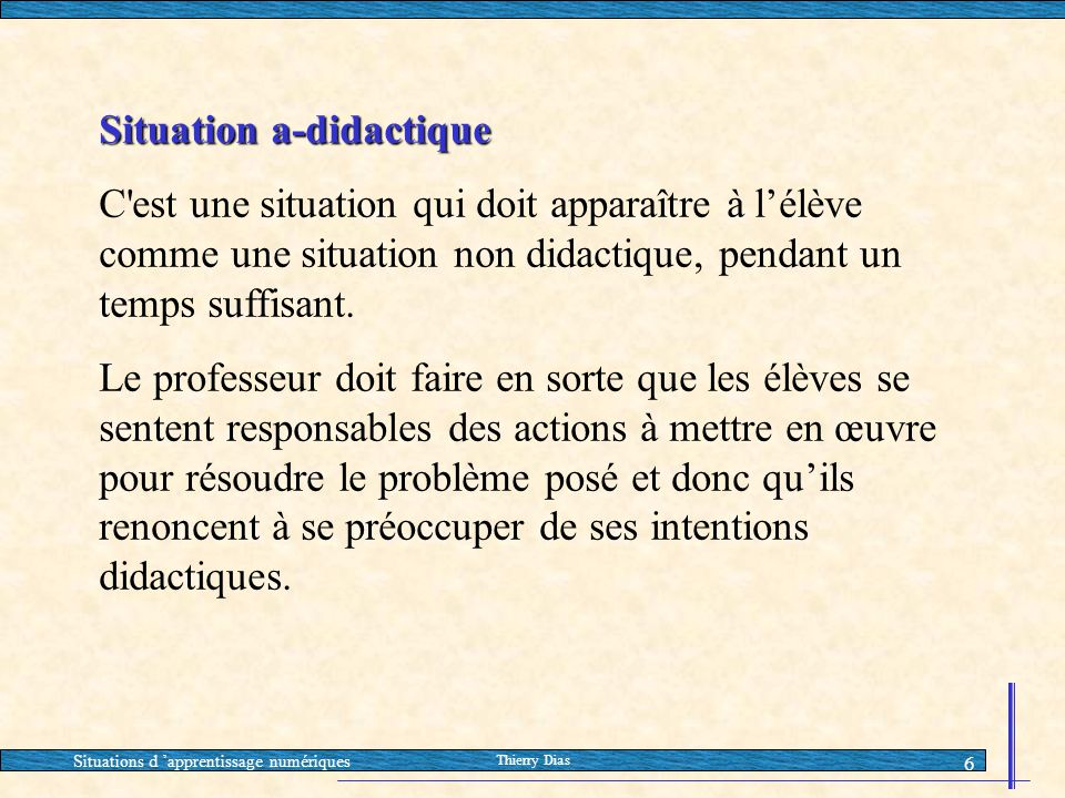 Situation a-didactique