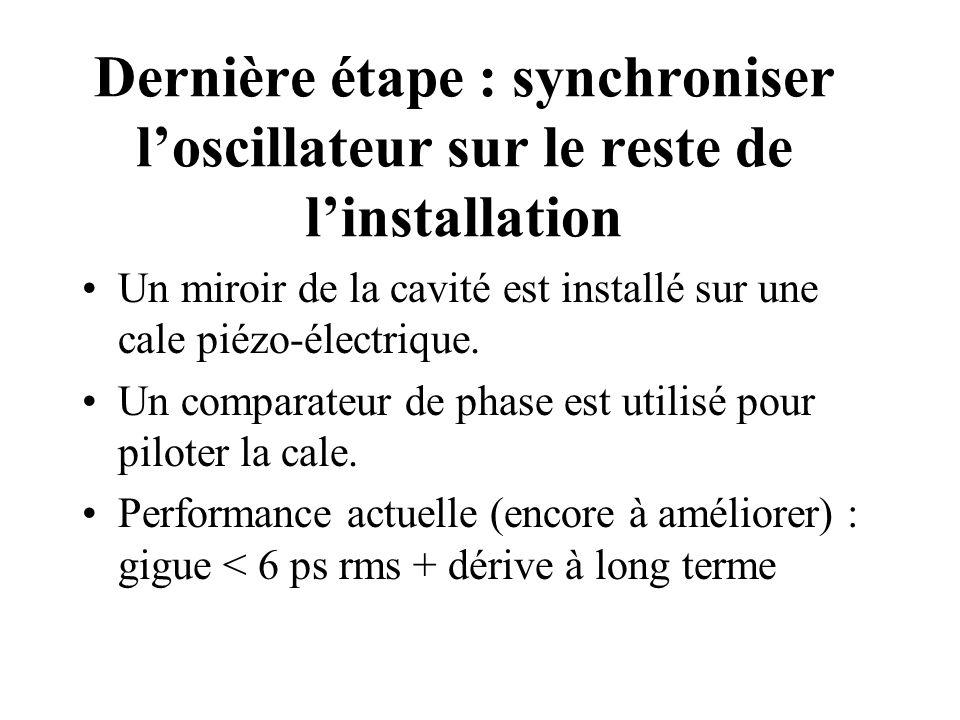 Dernière étape : synchroniser l'oscillateur sur le reste de l'installation