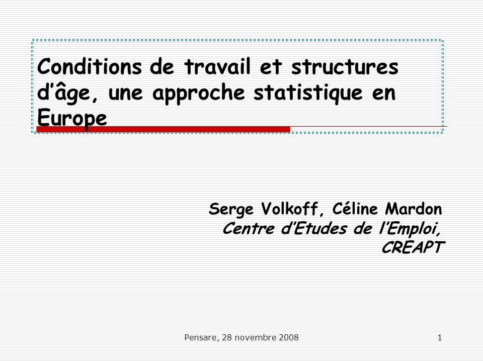 Serge Volkoff, Céline Mardon Centre d'Etudes de l'Emploi, CREAPT