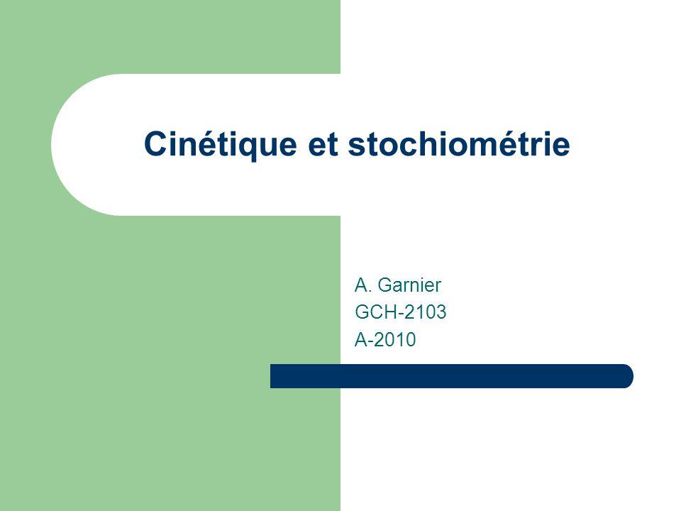 Cinétique et stochiométrie
