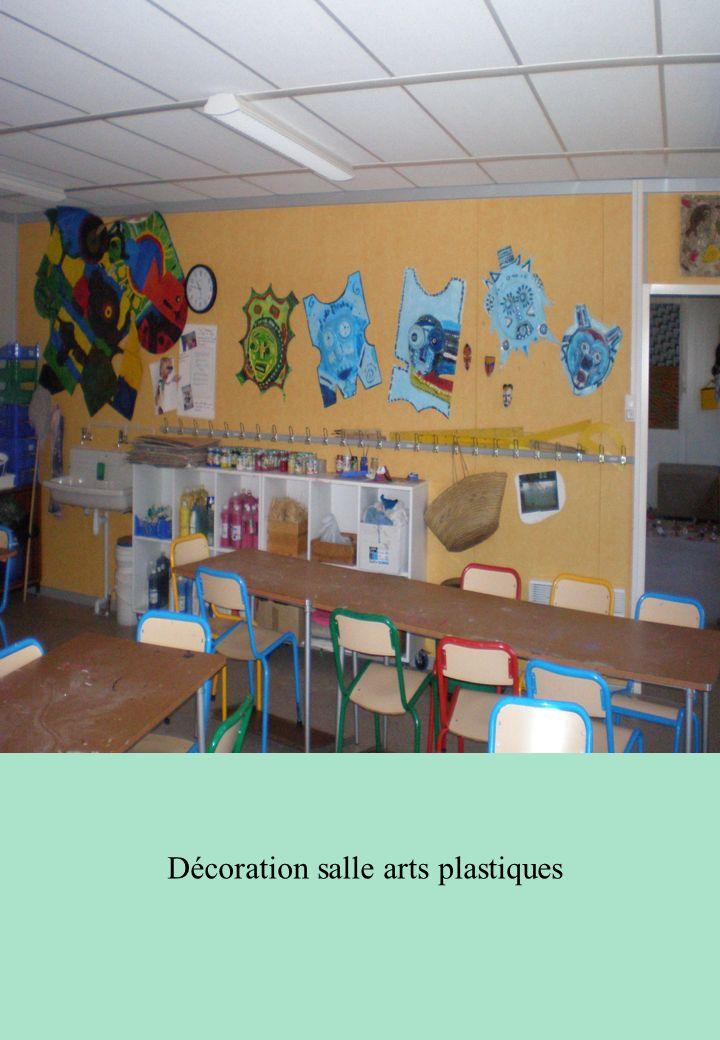 Décoration salle arts plastiques