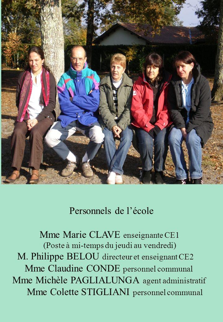 Mme Marie CLAVE enseignante CE1