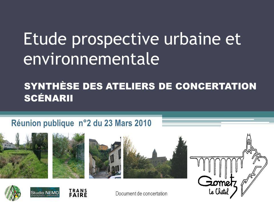 Etude prospective urbaine et environnementale