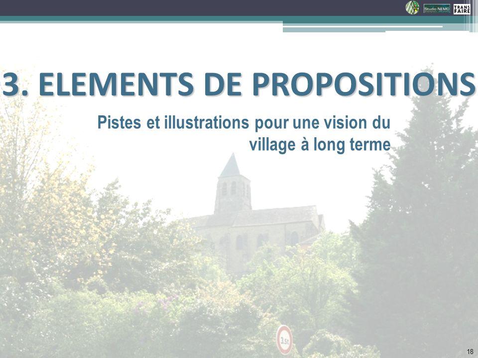 3. ELEMENTS DE PROPOSITIONS
