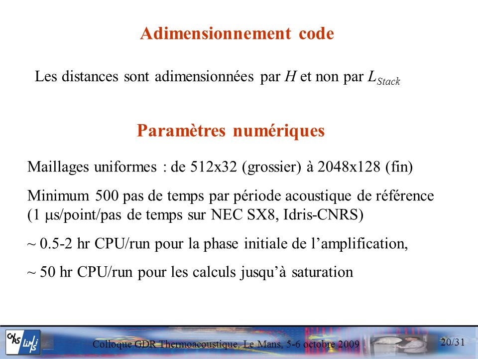 Adimensionnement code