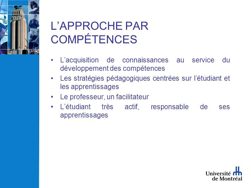 L'APPROCHE PAR COMPÉTENCES